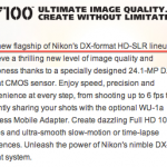 Nikon Europe : Nikon D7100 is not the successor of Nikon D300S