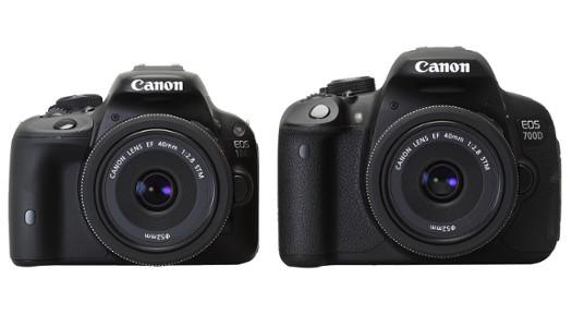 Canon EOS 100d vs EOS 700d vs EOS M