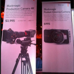 Blackmagic Production Camera 4K and Pocket Cinema Camera Specs