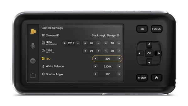 blackmagic cinema camera back