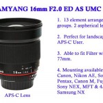 Samyang 16mm F2.0 ED AS USM CS Lens to be Announced Soon