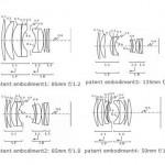 Canon 85mm f/1.2 , 85mm f/1.8 , 135mm f/2 , 50mm f/1.4 Lens Patent