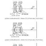 Canon Patents 45mm f/2.8, 40mm f/2.8, 35mm f/2.8, 28mm f/2.8 Pancake Lenses