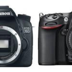 Canon EOS 70D vs Nikon D7100 Specs Comparison