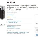 Deal : Fujifilm FinePix X100 Digital Camera for $899.00