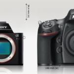 Sony A7 / A7r vs Nikon D800 / D800E Specs Comparison Table