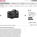 Pentax K-3 Features Leaked Officially at RICOH Imaging Website