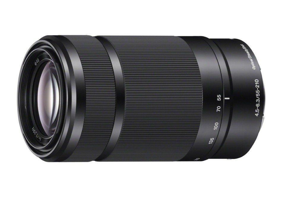 Black Sony 55-210mm f/4.5-6.3 Zoom Lens for E-Mount