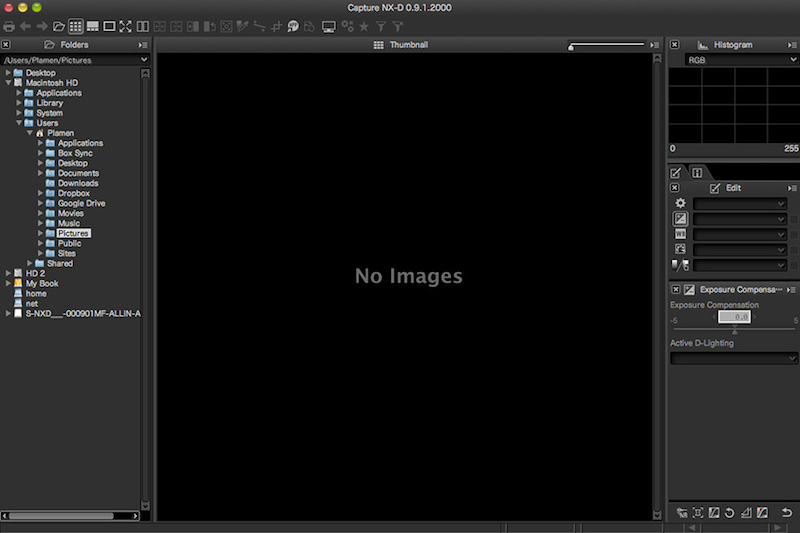 Nikon-Capture-NX-D-software-screenshot