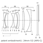 Ricoh 24mm f/2 Mirrorless Lens Patent