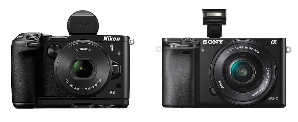 Nikon 1 V3 vs Sony A6000 Specifications Comparison