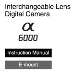 Sony A6000 User's Manual Available Online