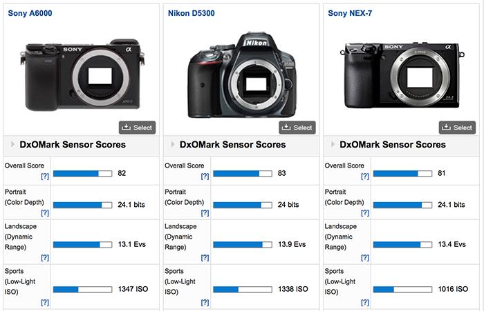 sony-a6000-vs-Nikon-D5300-Nex-7