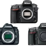 Nikon D810 vs Canon 5D Mark III vs D800 / E Specifications Comparison