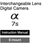 Sony A7s User's Manual Available Online