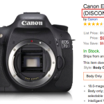 Canon EOS 7D Listed as Discontinued at Amazon
