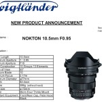 Voigtlander Announces Nokton 10.5mm f/0.95 Micro Four Thirds Lens