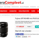 Fujifilm XF 140-400mm f/4-5.6 R LM OIS Lens Price Leaked
