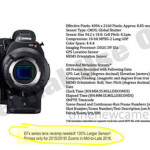 Canon C700x 4K Camera Image and Specs Leaked