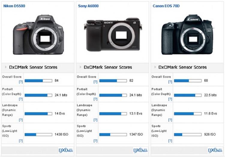 Nikon-D5500-versus-Sony-A6000-versus-Canon-70D