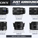 New Sony Full-Frame Mirrorless Lenses and 4 Lens Converters Announced