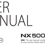 Samsung NX500 User's Manual Available Online
