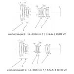 Tamron Patent for 14-300mm f/3.5-6.3 Di III VC MFT Lens
