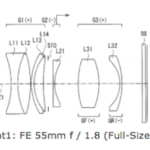 Sony Patent for FE 50mm f/1.8 Lens for Full Frame Mirrorless Cameras