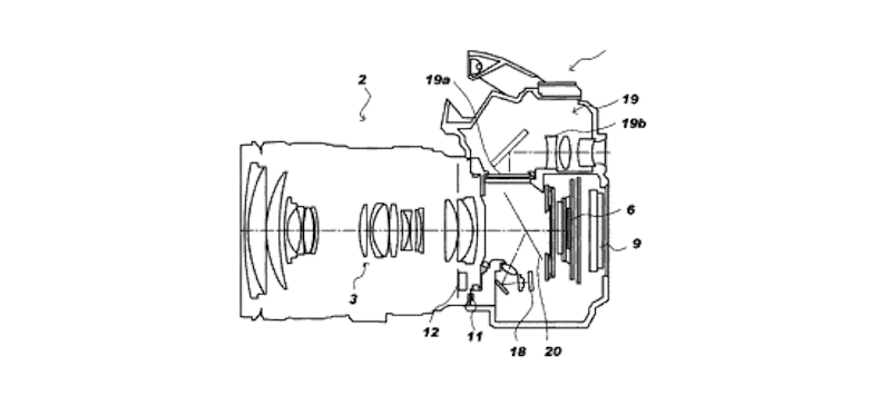 canon-patent-for-camera-system-with-translucent-mirror-and-evf