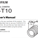 Fujifilm X-T10 User's Manual Available Online