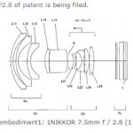 Nikon 1 Nikkor 7.5mm f/2.8 Lens Patent