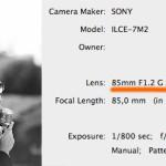 Sony 85mm f/1.2 G SSM II Lens Leaked Online