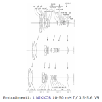 Nikon Patent for 10-50mm f/3.5-5.6 VR Lens