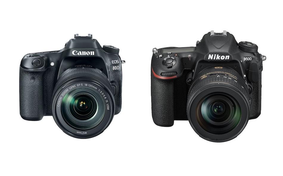 Canon EOS 80D vs Nikon D500 Comparison