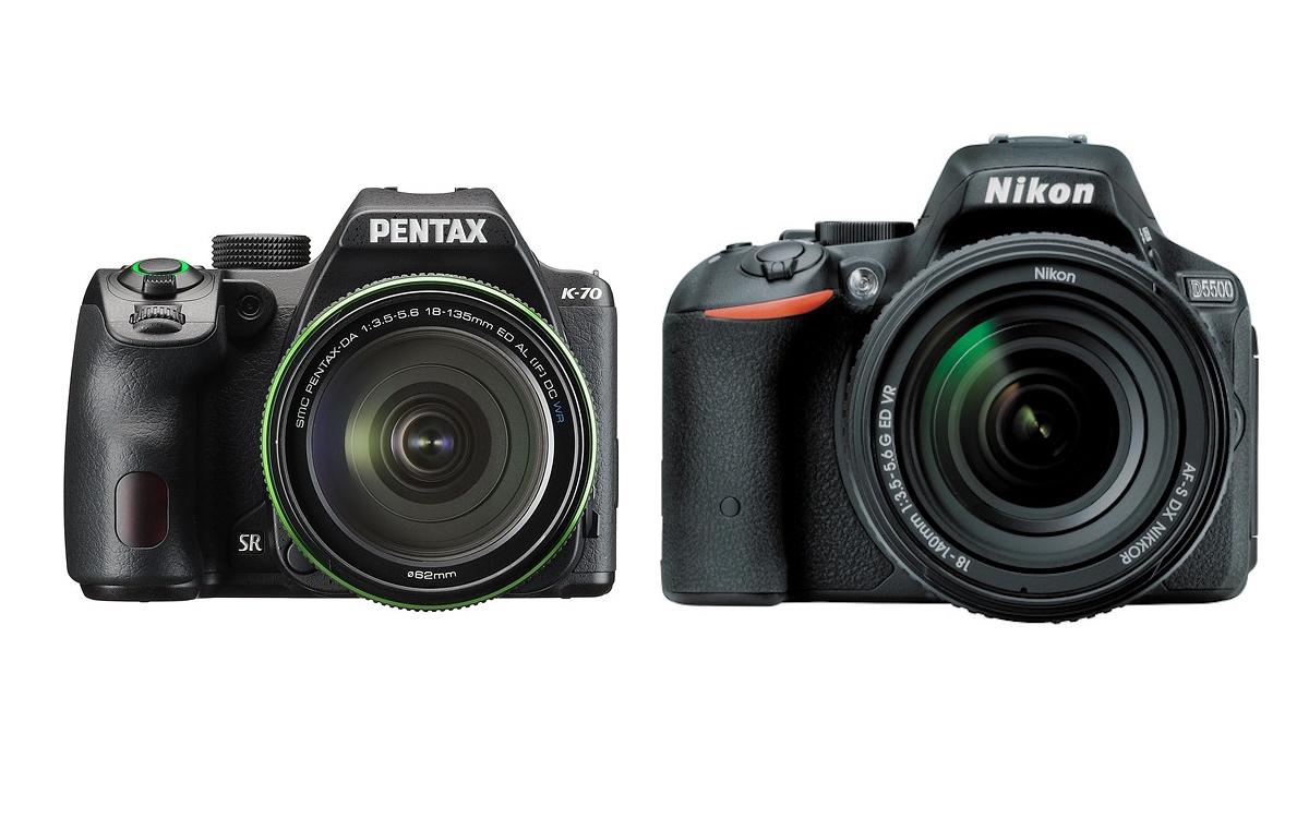 Pentax K-70 vs Nikon D5500 Comparison