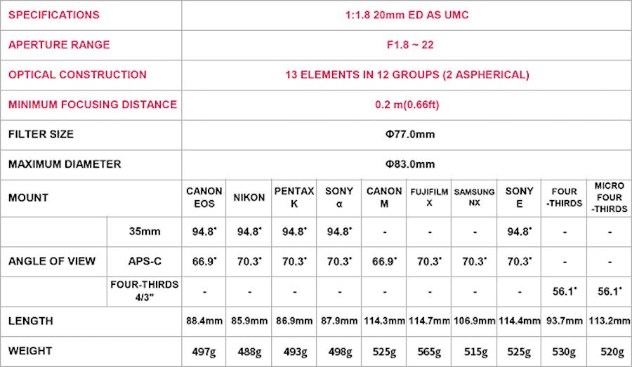 samyang-20mm-f1-8-ed-umc-specs