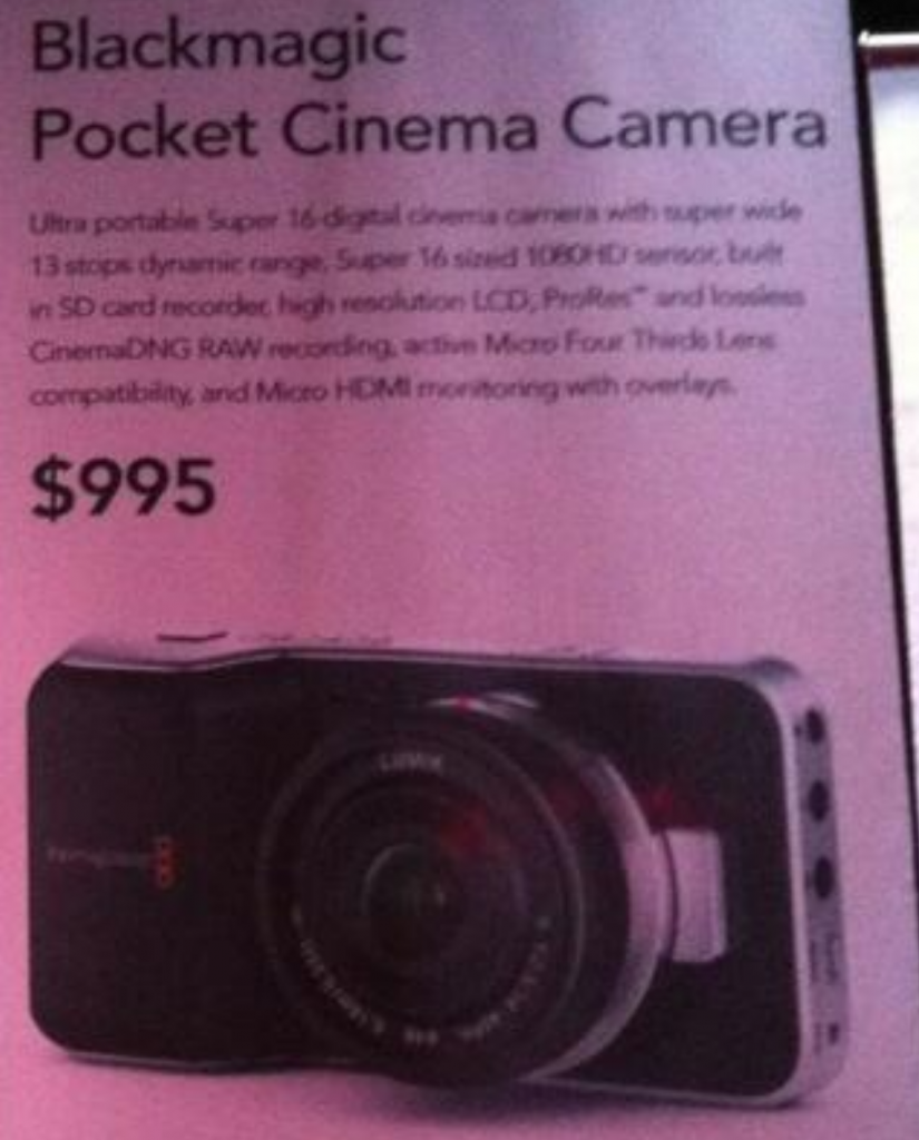 MFT Pocket Cinema Camera
