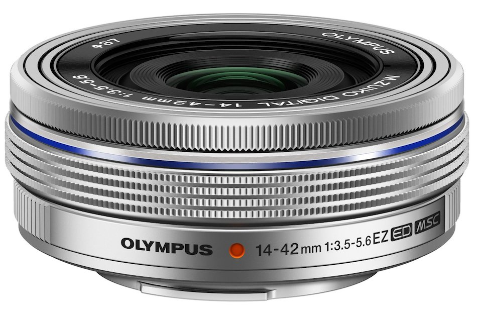 Olympus-14-42mm-F3.5-5.6-EZ-mft-lens-silver