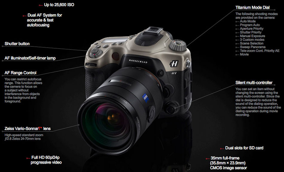 Hasselblad HV DSLR Camera Announced, Price at $11,500 - Daily Camera