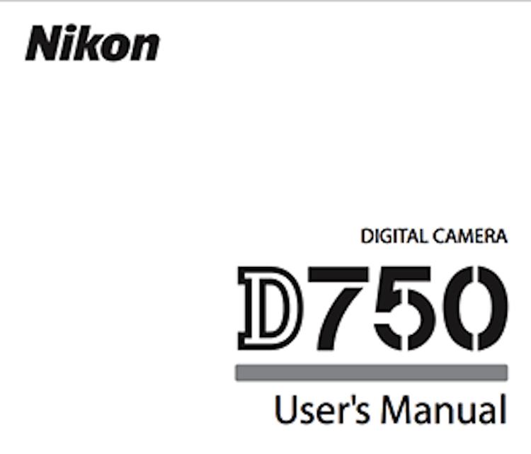 Nikon-D750-users-manual