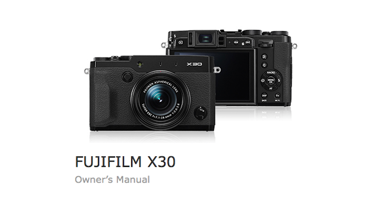 fujifilm-x30-users-manual