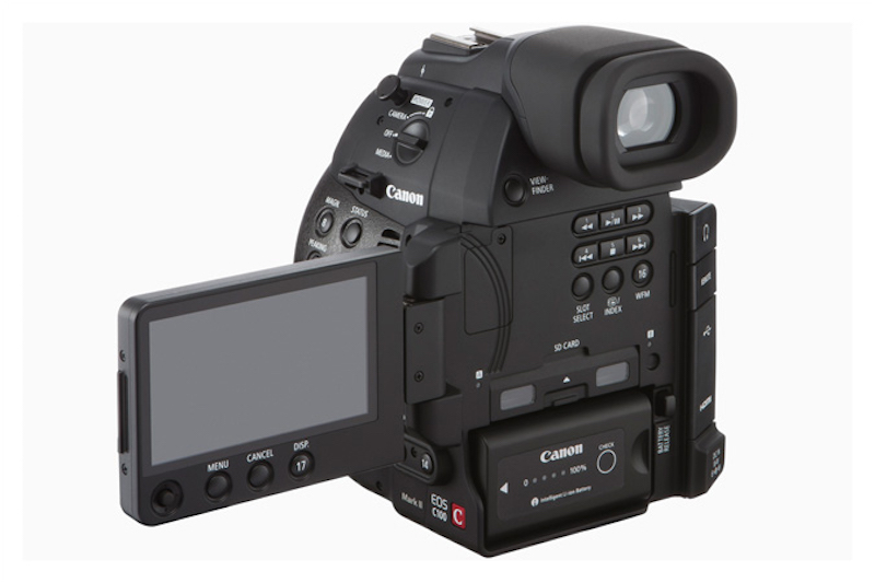 Canon EOS C100 Mark II Cinema Camera Back