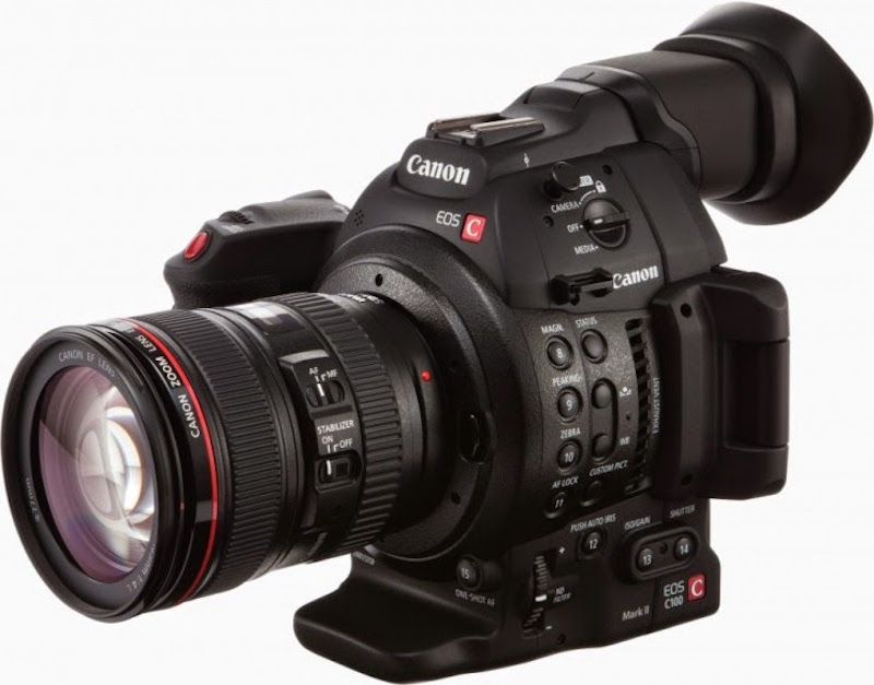 Canon EOS C100 Mark II Cinema Camera Front