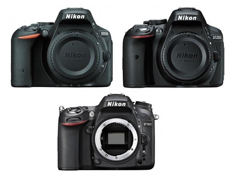 Nikon D5500 vs D5300 vs D7100 Specifications Comparison