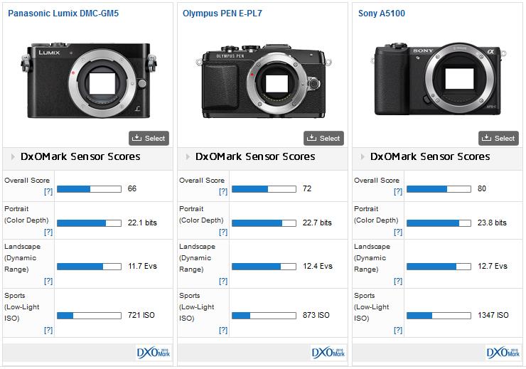 Panasonic_GM5__Olympus_E-PL7__Sony_A5100__Sencor_score