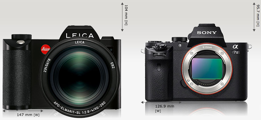 Leica-SL-Typ-601-vs-Sony-a7-size-comparison