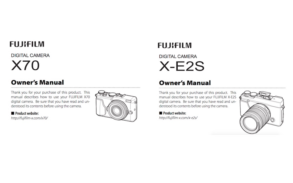 fujifilm-x70-and-x-e2s-users-manual-available-online