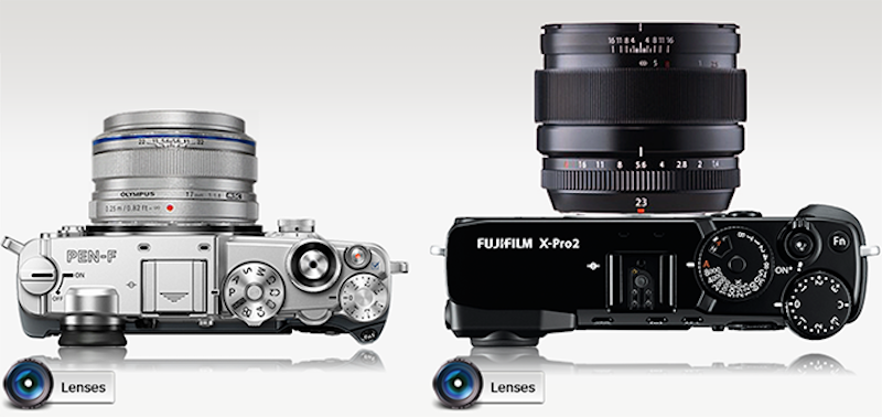 olympus-pen-f-vs-fuji-xpro-2-top