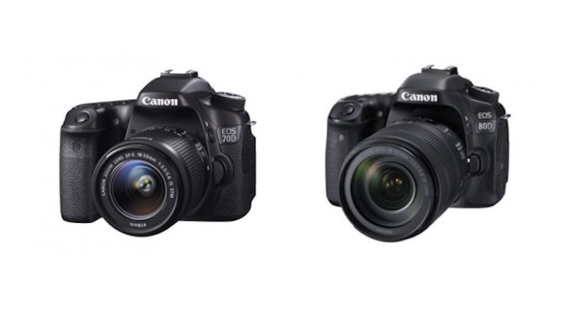 Canon EOS 80D vs EOS 70D Comparison