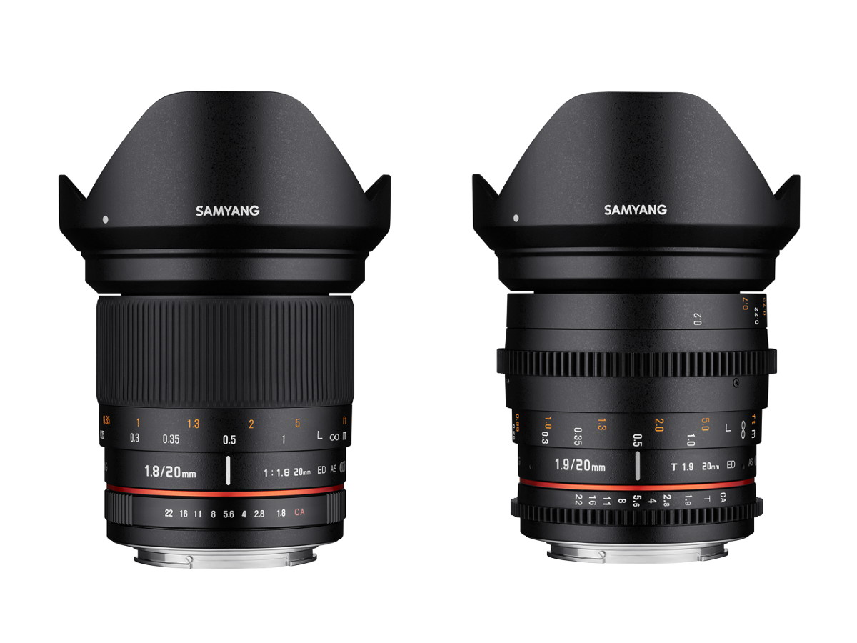 Samyang 20mm f/1.8 ED AS UMC lens officially announced